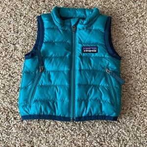 Green Patagonia Baby Vest